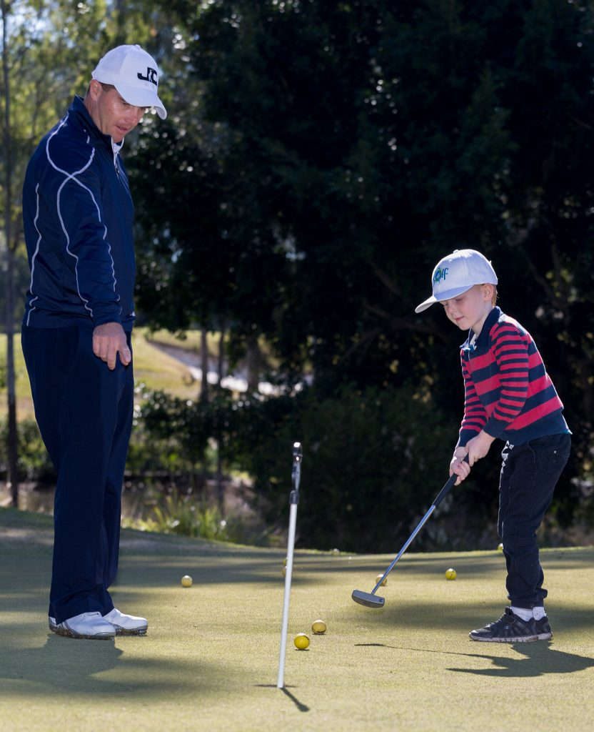A private kids golf lesson at Brookwater.